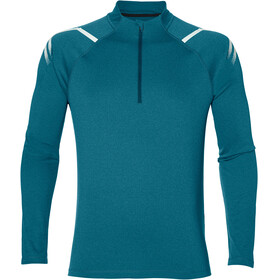 asics Icon LS 1/2 Zip Top Men Blue Steel Heather